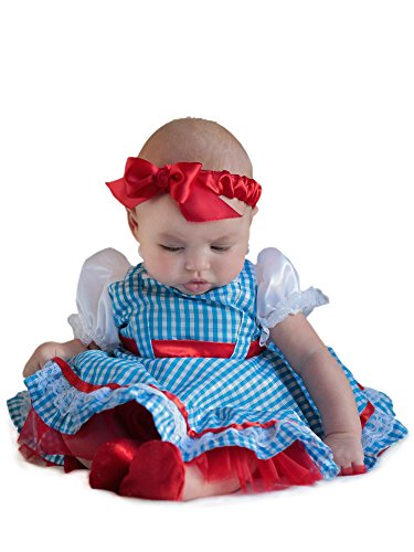 Princess Paradise Baby Girls' The Wizard Of Oz Dorothy Newborn Costume Deluxe Costume, As Shown, (Dorothy Wizard Of Oz Halloween Costume Toddler)