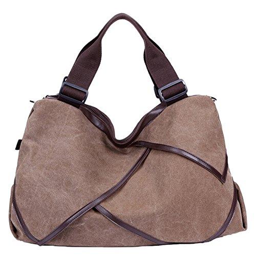 Pairs D - Bolso mochila  para mujer marrón beige marrón