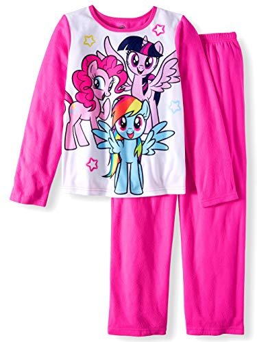 (Girls My Little Pony 2 pc Brushed Jersey Long Sleeve Pajamas)
