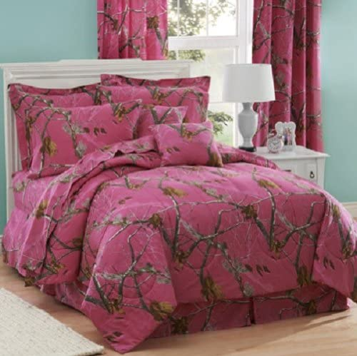 Camo Hot Pink-1 Piece Queen//Full Size Comforter Only-/>New-Free To US
