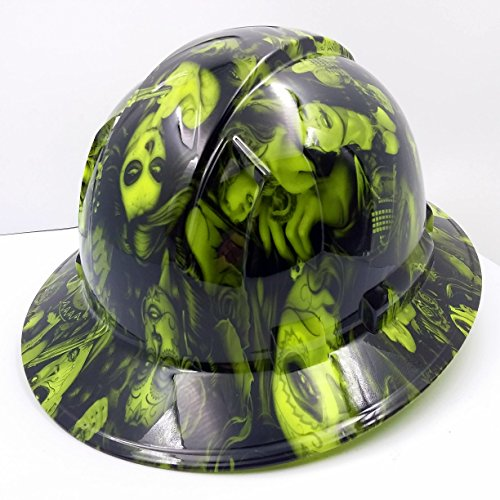 Wet Works Imaging Customized Pyramex Full BRIM NEW GREEN TATTOO BABES HARD HAT With Ratcheting Suspension by Wet Works Imaging (Image #3)