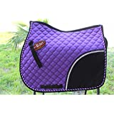 Horse Quilted All Purpose ENGLISH SADDLE PAD Tack Trail Riding Purple 72F05
