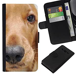 All Phone Most Case / Oferta Especial Cáscara Funda de cuero Monedero Cubierta de proteccion Caso / Wallet Case for Samsung Galaxy A3 // Golden Retriever Dog Animal Pet