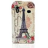 Semoss 1 X Conception Tour Eiffel Cuir Style Etui Coque Housse pour Samsung Galaxy Ace S5830