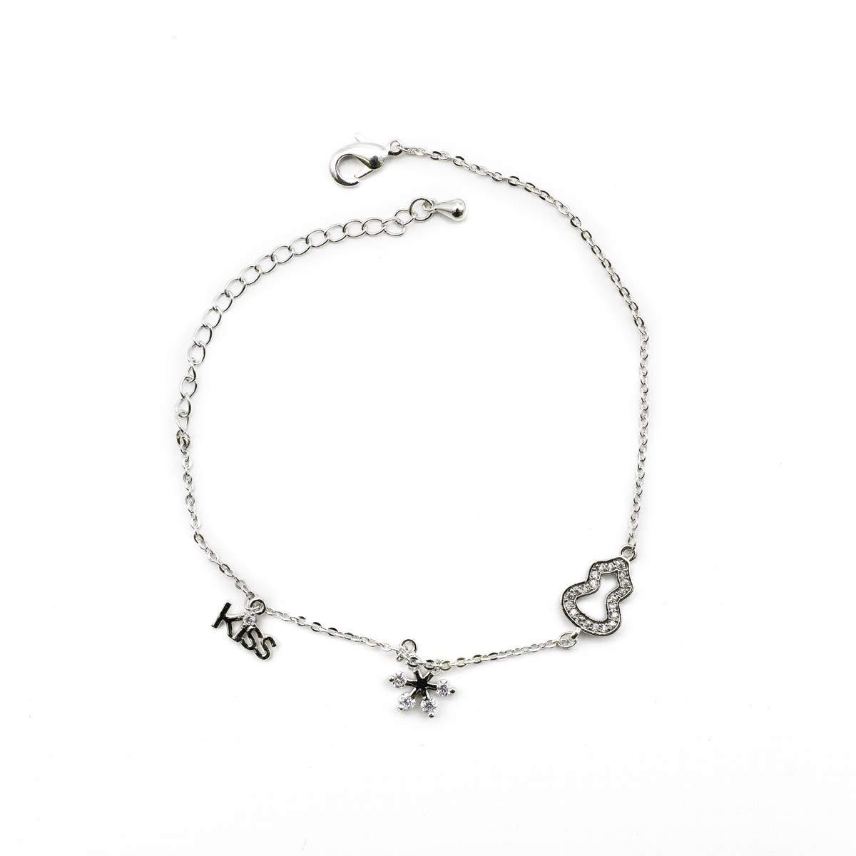 Kiyara accessories fashion jewellery tiffany inspired palomas graffiti kiss adjustable bracelet for women and girls amazon in jewellery