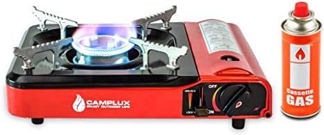 Foldable Stove Butane Gas Burner with Windshield /& Carry Bag Outdoor Camping