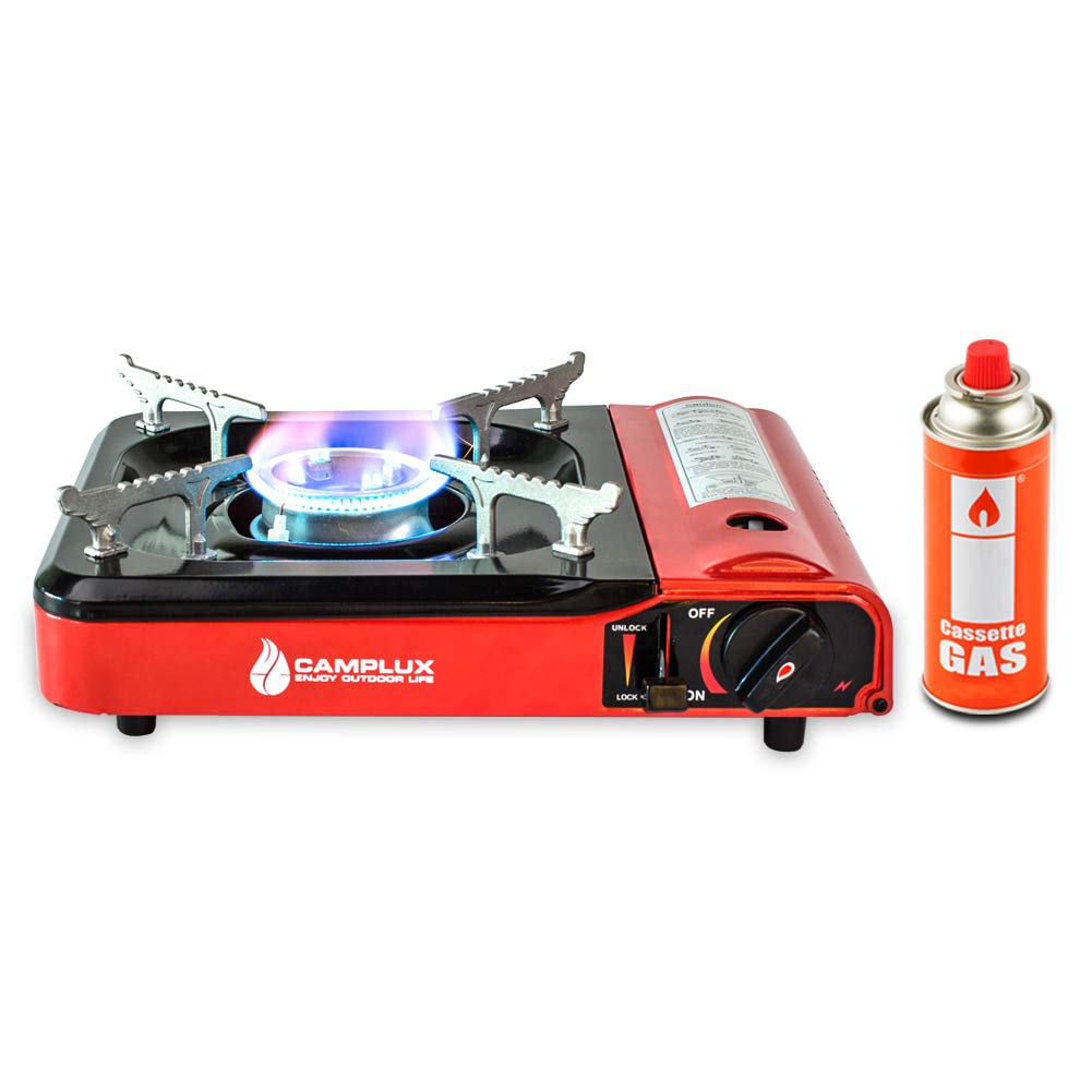 Camplux Portable Outdoor Camping Butane Gas Stove 8000BTU with Carrying Case by CAMPLUX ENJOY OUTDOOR LIFE