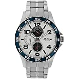 Titan Men's 1702KM01 Contemporary - Multifunction - Silver Metal Strap Watch