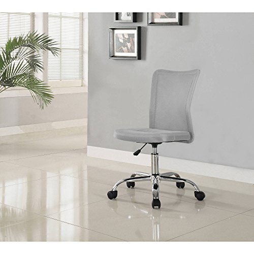 Versatile, Comfortable, Adjustable Breathable Material Mainstays Desk Chair, Multiple Colors, Gray by Mainstay