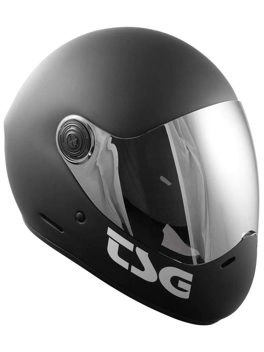 TSG - Pass Solid Color (+ Bonus Visor) - Helmet for Skateboard (Matt Black, XL)