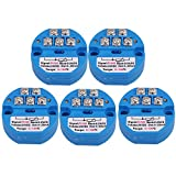 Mxfans 5Sets Blue DC24V 0~100 Degree Output 4-20mA PT100 Temperature Sensors Transmitter