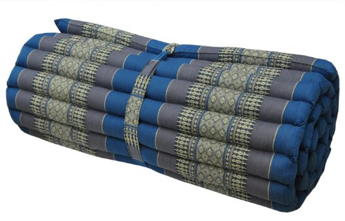 Thai mattress big size (75/180), blue/grey, relaxation, beach cushion, pool, meditation, yoga (81914) by Wilai GmbH