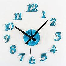 Mznm Clock Rivet Digital Wall Clock Self Adhesive Wall Clocks Horloge