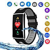 Hangang N68 Colorful Smart Bracelet IP67 Waterproof Smartwatch Support Bluetooth 4.0, Heart Rate Monitor, Blood Pressure Detection,Steps,Calories,Sleep Monitor, for Android4.4 and IOS 8.0 (gray)