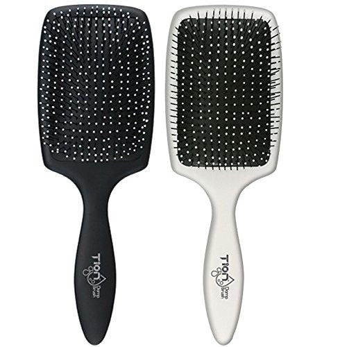 pro detangling hair brush set black white by tion damp brush