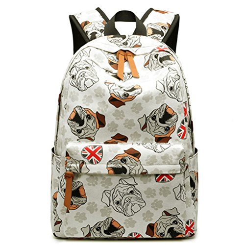 Flamingos White Toile courant dos quotidienne Kawaii à Mochila Cute Bookbags Winnerbag Sac Animal Filles Collège Femme Impression Blue T8CnzwxqFd