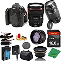 Great Value Bundle for 6D DSLR – 24-105MM L + 75-300MM III + 16GB Memory + Wide Angle + Telephoto Lens + Case