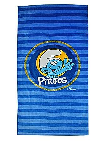Unbekannt Badetuch Schlumpf blau 75 cm 150 cm Handtuch M/ädchen Jungen Kinder die Schl/ümpfe gestreift Strandtuch