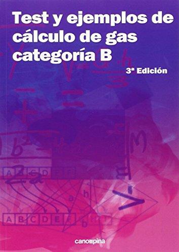 Descargar Libro Test Y Ejemplos De Cálculo De Gas Categoría B: 3ª Edición Cano Pina S.l.