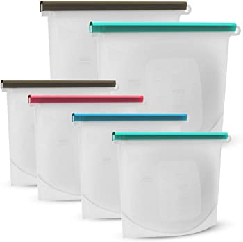 6-Pack Pagie Reusable Airtight Seal BPA Free Food Preservation Bags