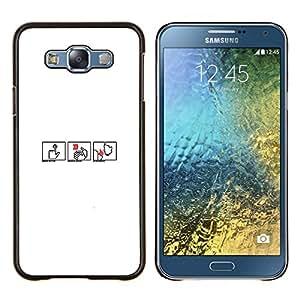 EJOOY---Cubierta de la caja de protección para la piel dura ** Samsung Galaxy E7 E700 ** --Pequeña Cuadrícula