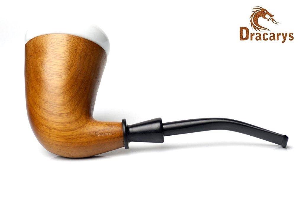 Dracarys Pipes Sherlock Holmes Style Calabash Porcelain Tobacco Wood Smoking Pipe