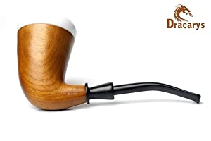 Dracarys Pipes Sherlock Holmes Style Calabash Porcelain Tobacco Wood Smoking Pipe