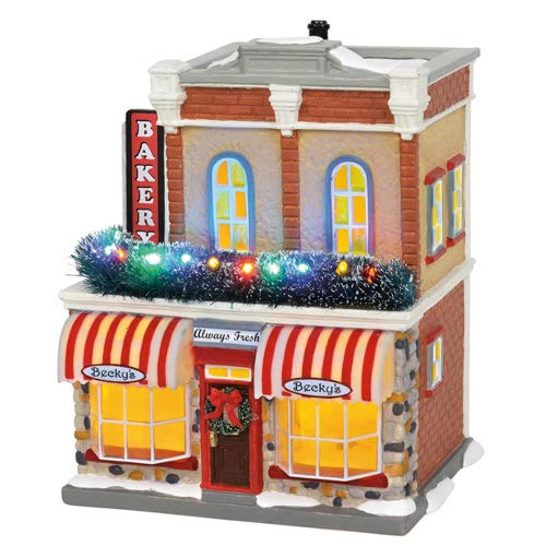 Department56 Department 56 6002297 Original Snow Village, Main Street Bakery (Village Snow Snow)