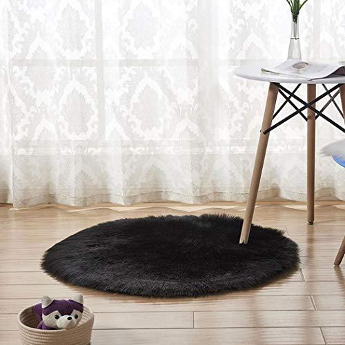- Kizaen Super Soft Plush Carpet Round Fluffy Warm Area Rugs for Bedroom Floor Shaggy Silky Living Room Carpet Rug Bedside Rugs