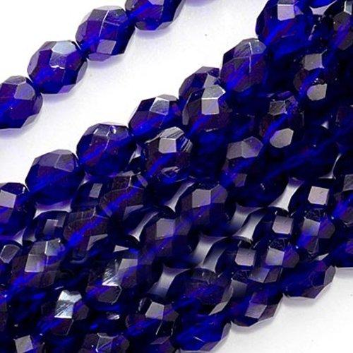 Blue 6mm Czech Glass Beads - 2