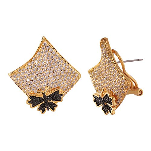 shaze gold-colored Studded Bella Earring by Shaze