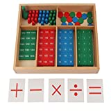 StarMall Wooden Montessori Stamps Game Toys Kids Learning Math Teaching Aids Manipulatives for Preschool Kids Toddlers