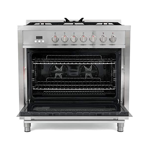 Cosmo F965 36 in. Dual Fuel Gas Range with 5 Sealed Burners, Convection Oven with 3.8 cu. ft. Capacity, 8 Functions… 7