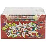 Smarties Candy Rolls, Mega, 24 Count