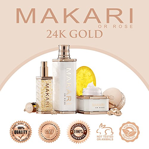 51tvSswL5WL - Makari 24K Gold Beauty BODY Milk Lotion - Powerful Anti-Aging Body Lotion w/Real Gold Particles, Omega 3 & Active Probiotics for Wrinkles, Dark Spots & Blemishes - Luxurious Moisturizing Formula