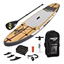 THURSO SURF Waterwalker Inflatable Stand Up Paddle Board SUP 10'6 x 31'' x 6'' TWO LAYER Deluxe Package Includes CARBON Shaft Paddle/2+1 Fins/Deck Bag/Leash/Pump/Backpack