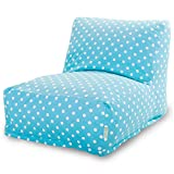 Majestic Home Goods Aquamarine Small Polka Dot Bean Bag Chair Lounger