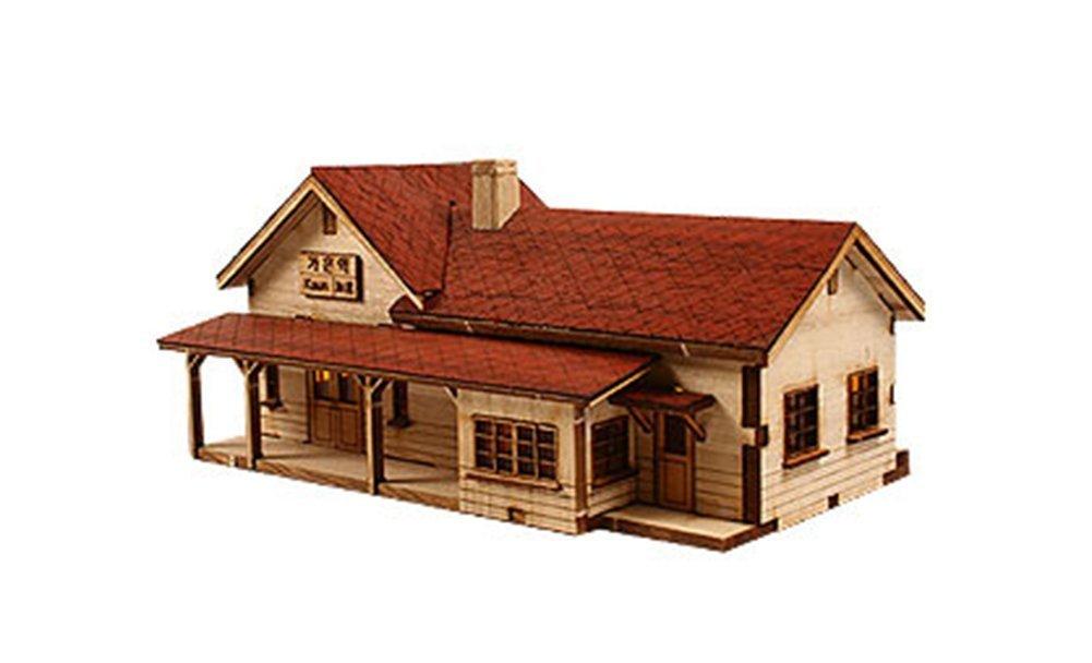 Youngmodeler Schreibtisch aus Holz Asamblea Modell Kits, Gaeun Station