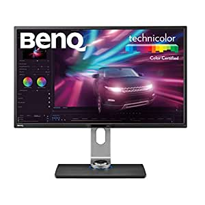 "BenQ PV3200PT - Monitor de Post-producción de vídeo  (32"" 4K UHD, 3840 x 2160 UHD, 100% Rec.709, Panel IPS, calibración de Hardware, función de uniformidad de Brillo), Color Negro"