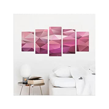 Amazon.com: Liguo88 Custom canvas Abstract Home Decor Triangle ...