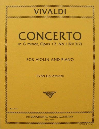 Vivaldi - Concerto in G minor, Opus 12, No. 1 (RV 317) for Violin and Piano (No. 2575)