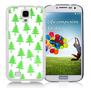 Personalize offerings Bright Green Christmas Tree Durability White TPU Case For Samsung Galaxy S4,Samsung I9500