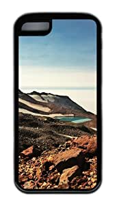 Customized Case landscapes nature mountain lake 89 Black for Apple iPhone 5C