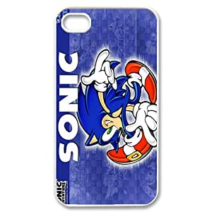 Top Sales Sonic The Hedgehog The Popular Video Game Iphone 4,4s Case Cover(HD Image) Best Protective Durable Hard Plastic Cover