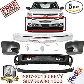 Passenger Side Bumper End for 07-13 Chevrolet Silverado 1500 GM1005147 Crash Parts Plus Front