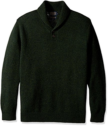 Pendleton Men's Shetland Shawl Collar Oullover Sweater, Juniper Green-61199, XL ()