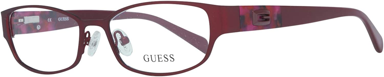 Rot Guess GU2412 52O92 Guess Brille Gu2412 O92 52 Oval Brillengestelle 52