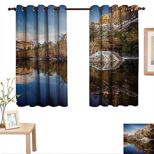 (Yosemite Customized Curtains Yosemite Mirror Lake and Mountain Reflection on Water Sunset Evening View Picture 63