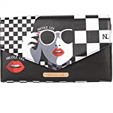 Nicole Lee Travel Wallet Girl's Fashion Print Small Cross Body Bag (Lady in Glasses)