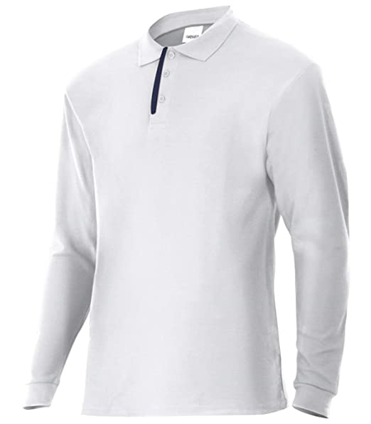 VELILLA Polo De Manga Larga Bicolor Blanco XL: Amazon.es: Ropa y ...